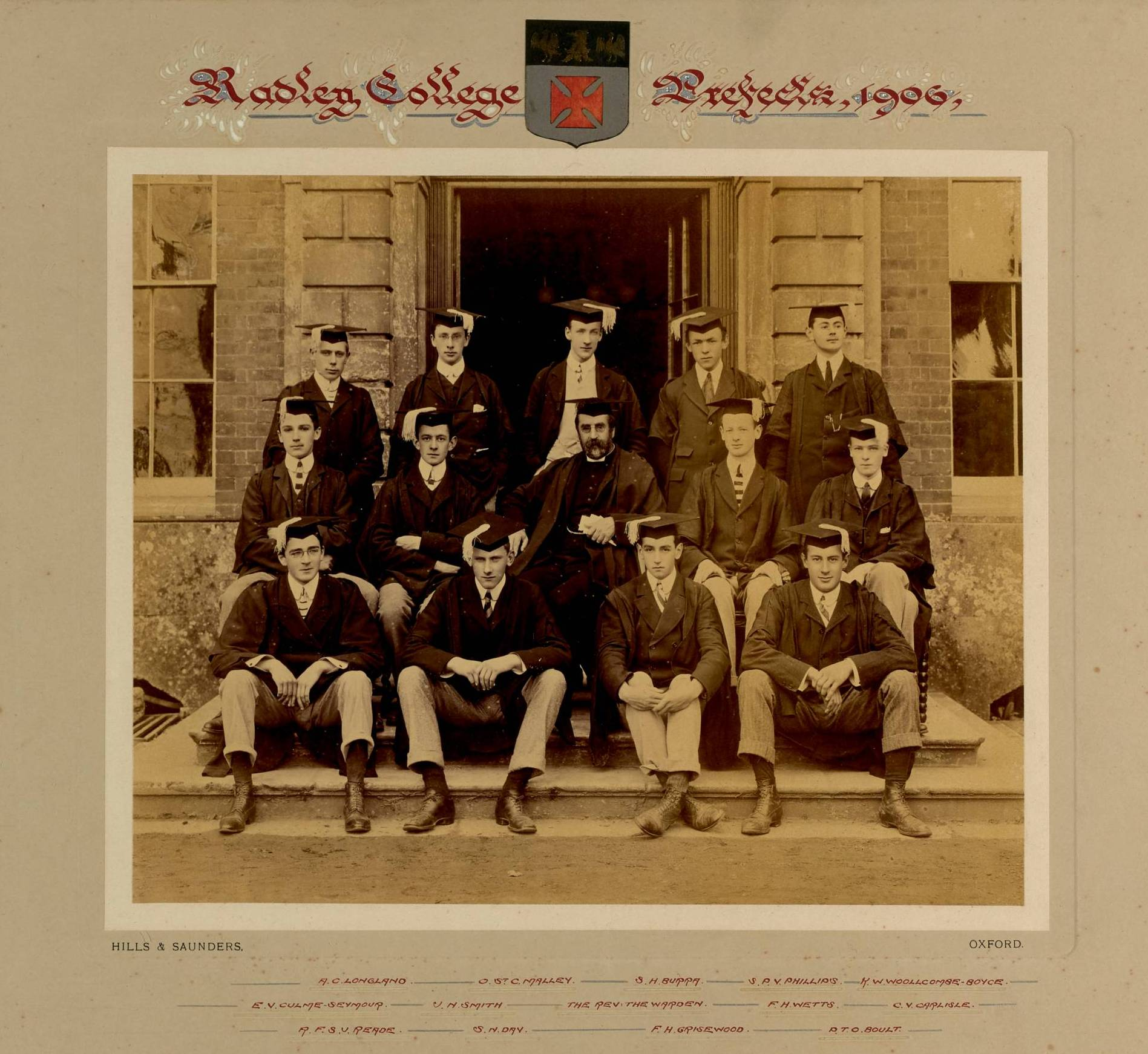 Radley College prefects photographs 1906